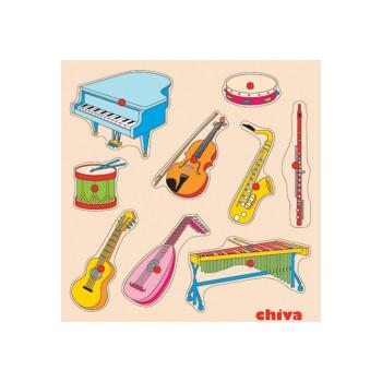 Müzik Aletleri Ahşap Puzzle