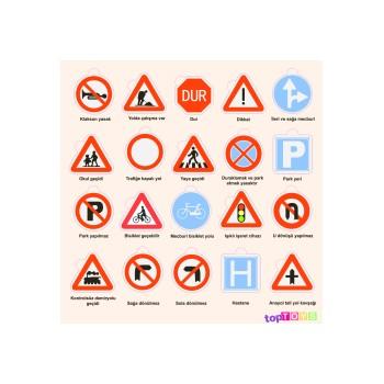 Trafik İşaretleri Ahşap Puzzle