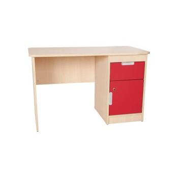 Akça Öğretmen Masası Kırmızı