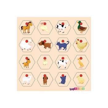 Hayvanlar ve Yavruları Ahşap Puzzle