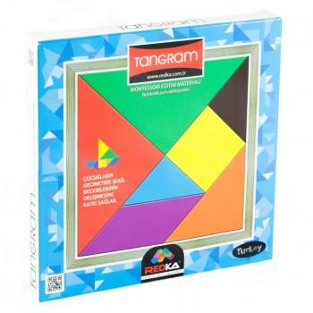 Renkli Tangram Akıl Zeka Mantık ve Montessori Oyunu