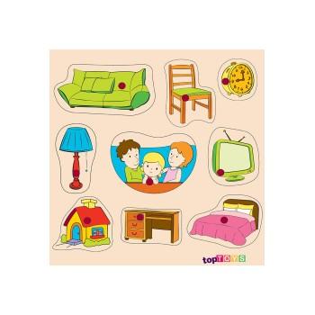 Evimiz Ahşap Puzzle