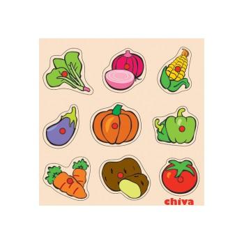 Sebzeler Ahşap Puzzle