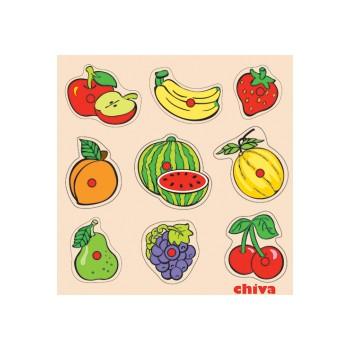 Meyveler Ahşap Puzzle