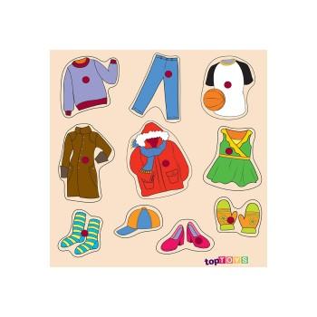 Kıyafetler Ahşap Puzzle