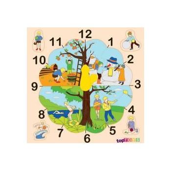 Mevsim Saat Ahşap Puzzle