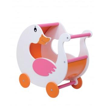 Ahşap Kuğu Bebek Arabası