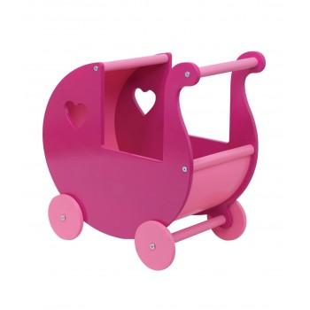 Ahşap Kalpli Bebek Arabası