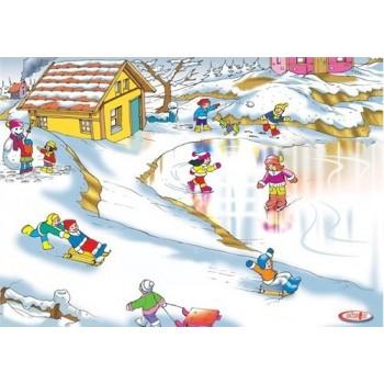 Kış Mevsimi Ahşap Puzzle