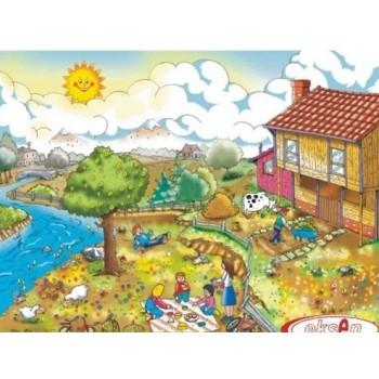 İlkbahar Mevsimi Ahşap Puzzle