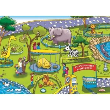 Hayvanat Bahçesi Ahşap Puzzle