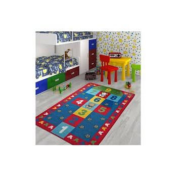 Confetti Hopscotch 133X190 Kirmizi Bukle Çocuk Halısı