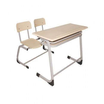 """Werzalit tablalı, 25x50x1,5 oval profil, ahşap raflı masa. """"C"""" tipi ayak, 20X40X1,5 oval profil, werzalit oturaklı bank"